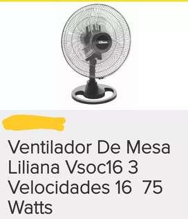 Ventilador de mesa Liliana