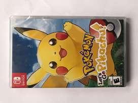 Pokemon Lets Go Pikachu Nuevo Sellado Nintendo Switch