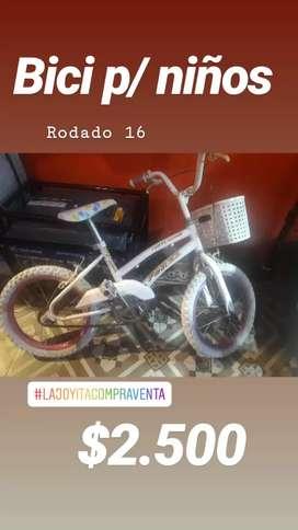 Bici de niños rodado 16
