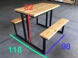 Mesas-sillas(unidas) para restaurante