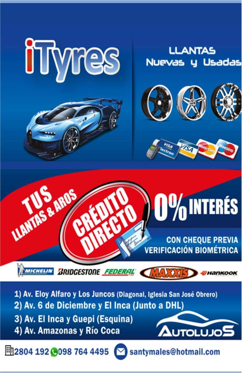 Llantas Nuevas A Crédito Directo Cualquier Marca Y Medida iTyres, Cotiza Hoy Mismo!!! 0