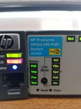 SWICHE HP ProCurve 2910 al-24g Ethernet Switch 4 x SFP (mini-GBIC) 24 x 10/100