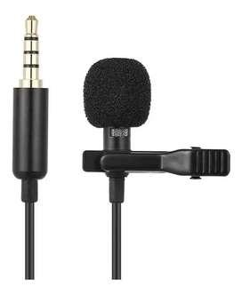 Micrófono Solapa Clip Jack 3.5mm 1.5mt Anti-ruido Celular_ref:01