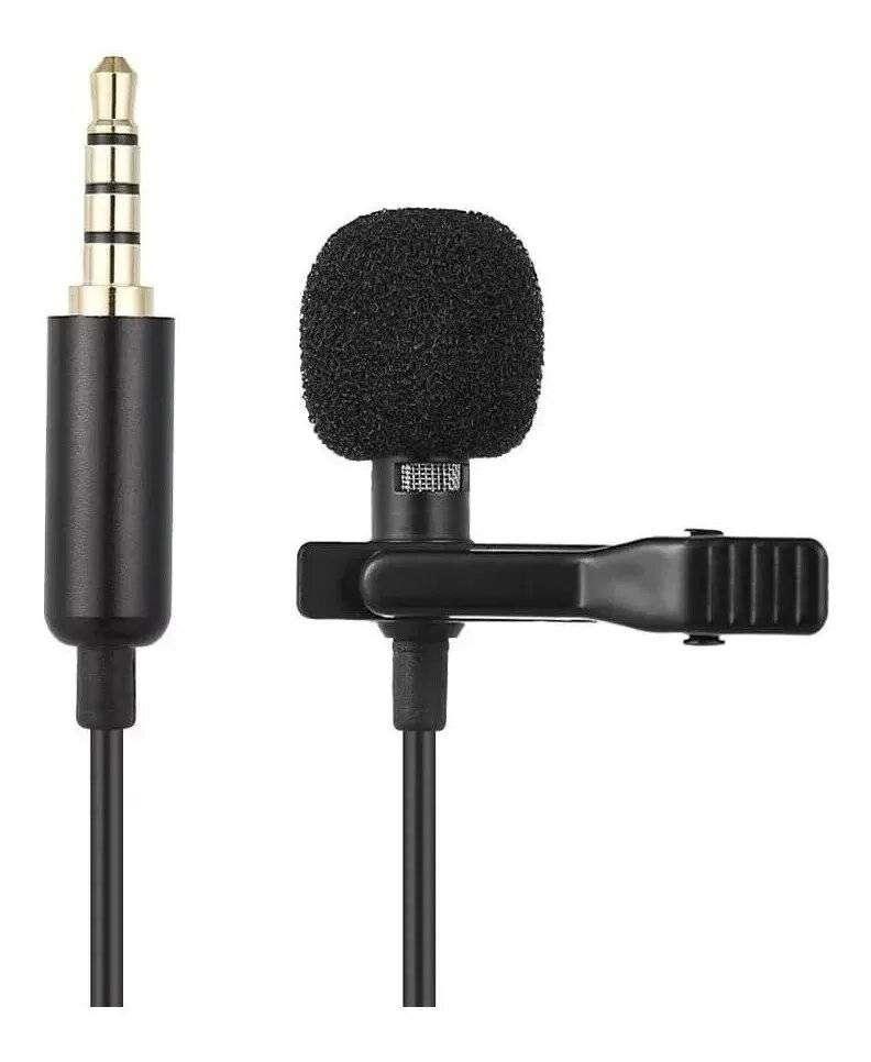 Micrófono Solapa Clip Jack 3.5mm 1.5mt Anti-ruido Celular_ref:01 0