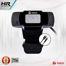 Camara web Teros TE-9060 720p , microfono incorporado, USB 2.0 , Webcam