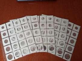 100 cartones para monedas con sus acetatos