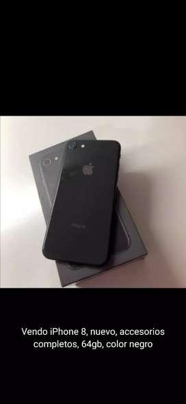 Vendo iPhone 8 nuevo 64gb