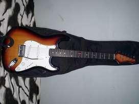 Guitarra eléctrica, marca Kansas.