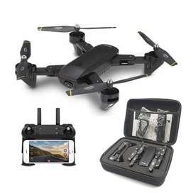 Drone Plegable Wifi Doble Cámara Doble Batería + Estuche