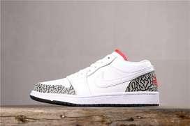 Tenis Nike Jordan 1 Retro Blanco Gris Cuero Envio Gratis