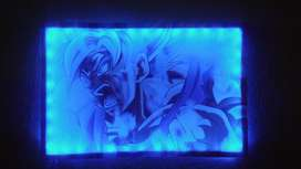 Cuadros Led Luminosos 80x40 Dragon Ball Goku