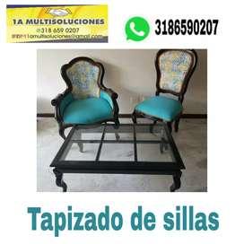 Tapizados cali, de todo tipo de sillas y mubles en general