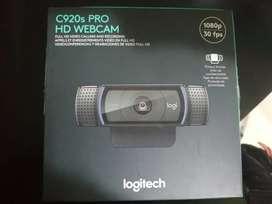 Camara web Logitech C920s Pro HD. Nueva