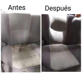 Limpieza y desinfección de muebles colchones tapicería de carro alfombras