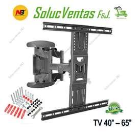 Base soporte TV doble brazo en Acero NB 3 años de Garantía 40-65