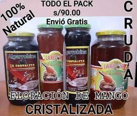 Pack 1Miel de Abeja 1k+Algarrobina 1k+Todo+1/2 K Algarrobina+1/2K Miel de Abeja Todo es s/90.00 ENVIO GRATIS