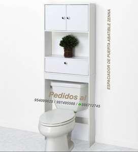 Muebles de baño organizador optimizador sobre inodoro morella zenna málaga Madrid Barcelona tritón muebles de melamina
