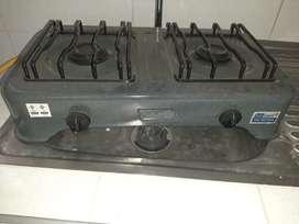 Cocina de dos fogones para gas natural