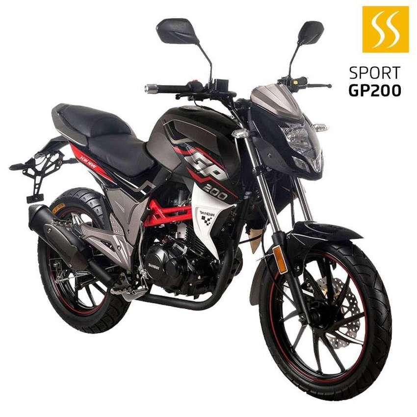 MOTO SHINERAY XY-GP200 SPORT 200CC 2020 NEGRO GRATIS MATRICULA + CASCO GARANTIA DE 30000KM 0