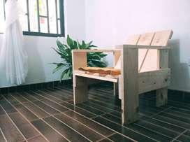 Silla de madera, Sillon Krat Madera.