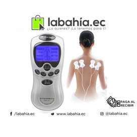 Masajeador con electrodos para ejercitar o rehabilitar musculos