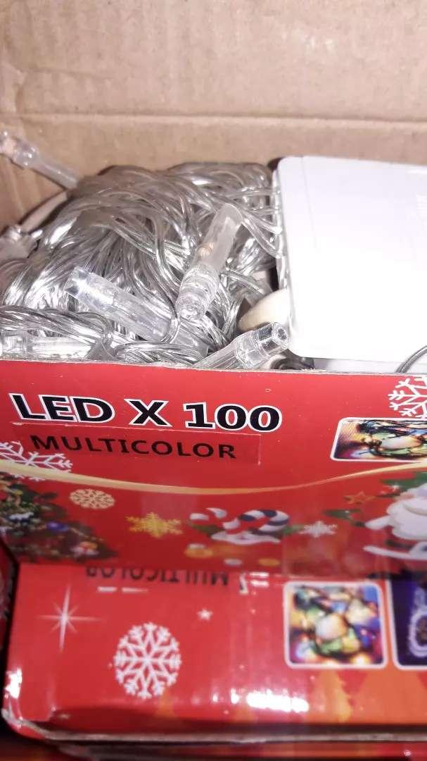 Luz navideña 100 led multicolor o blanca 0