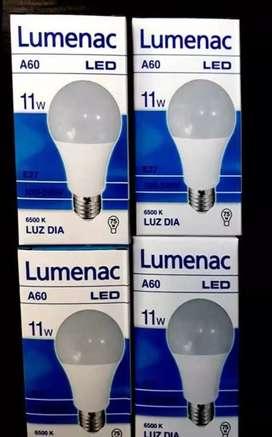 Lámpara led lumenac 11w luz fría. Equiv. 75w