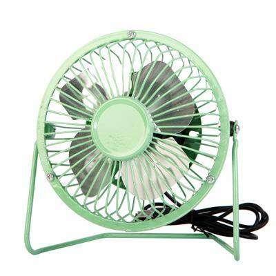 Mini Ventilador Portatil Usb 15cm Para Casa Oficina Metalico Y Silencioso