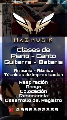CLASES DE PIANO  CLASES DE CANTO  CLASES DE GUITARRA  CLASES DE BATERIA