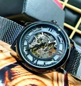 Reloj automático, maquinaria expuesta funcional!