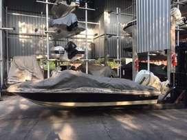 Lancha Quicksilver 1700 con motor Evinrude 115 hp 2tiempo con 270 hr año 2010, US 17,500
