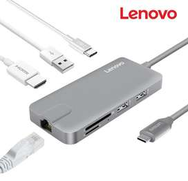 Adaptador multi Hub Usb Tipo C 8n1 Usb 3.0 Rj45 Hdmi @ Galaxy Tab S4