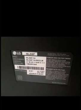 LG 49 pulgadas, pantalla rota