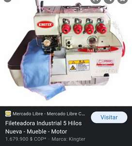 Fileteadora industrial kingter