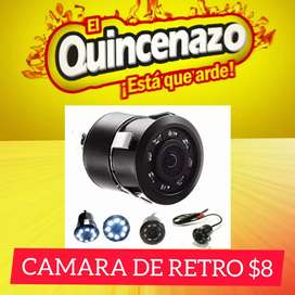 CAMARA DE RETRO PARA CARRO PORTATIL LED