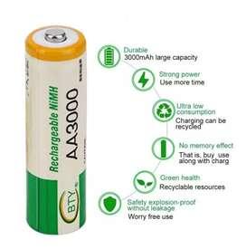 Pilas Baterias Aa Y Aaa Recargables Ni-mh 3000 Mah 1800 Mah