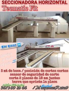 SECCIONADORA HORIZONTAL TECMATIC FIT maquina carpintería fábrica muebl