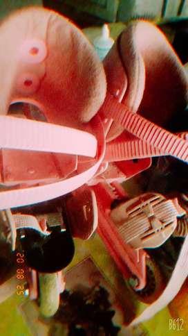 Rollers sin botita extendibles rosa