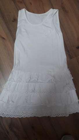 Vestido Nena Importado Broderie 6-8 Años