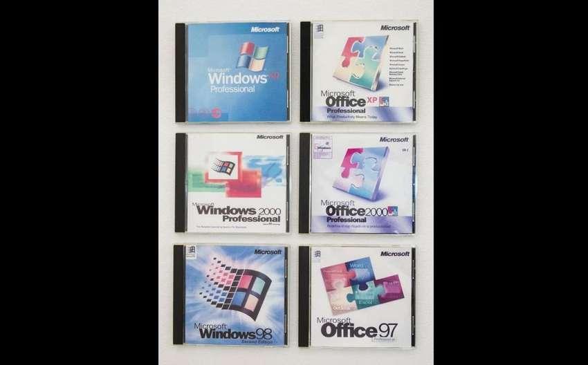 Windows XP, 2000 y 98 SE. Office XP Inglés, Office 2010 y 97 0