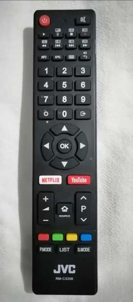 Control remoto JVC Smart TV. Producto original