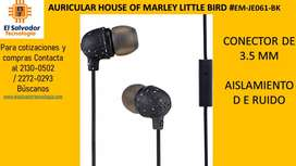 AURICULAR HOUSE OF MARLEY LITTLE BIRD #EM-JE061-BK