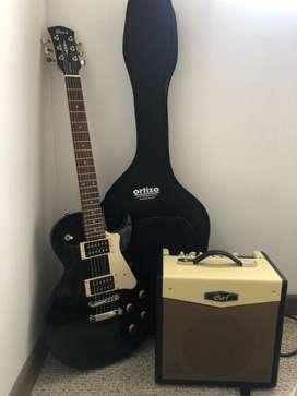 GUITARRA ELECTRICA CORT + ESTUCHE + AMPLI