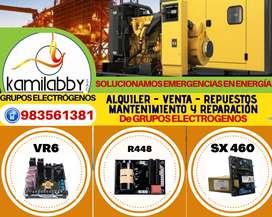 Reparación Grupos Electrógenos - SX460-SX440- VR6-R448-SE350