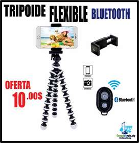 Trípode flexible bluetooth