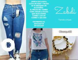 Blusas,blusones y jeans
